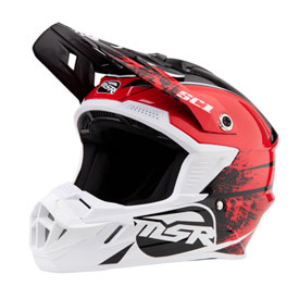 MSR Youth SC1 Grit Helmet Small Red/White