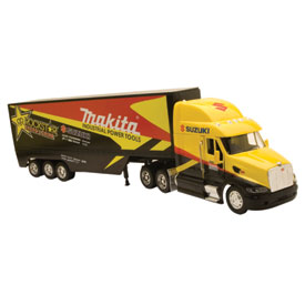 New Ray Die-Cast Rockstar Makita/Suzuki Racing Rig Replica
