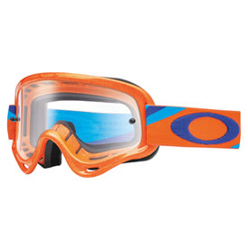 Oakley Youth XS O Frame Goggle  Heritage Racer Orange Frame/Clear Lens