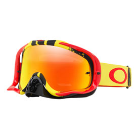 Oakley Crowbar Goggle  Pinned Race Yellow Red Frame/Fire Iridium Lens