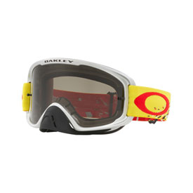 Oakley O2 MX Goggle  Checked Finish Yellow Red Frame/Dark Grey Lens
