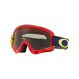 Oakley Youth XS O Frame Goggle 2019  Kickstart Red Yellow Frame/Dark Grey Lens