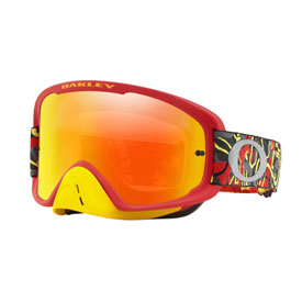 Oakley O Frame 2.0 Goggle  Camo Vine Night Red Yellow Frame/Fire Iridium Lens