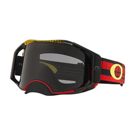 Oakley Airbrake Goggle  Frequency Red Yellow Frame/Dark Grey Lens