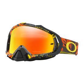 Oakley Mayhem Pro Goggle  Podium Check Orange Frame/Fire Iridium Lens