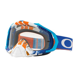 Oakley Mayhem Pro Goggle  Pinned Race Blue Orange Frame/Clear Lens