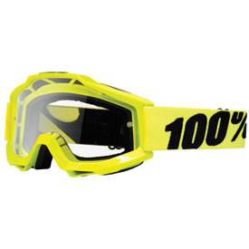 100% Accuri Goggle  Flo Yellow Frame/Clear Lens