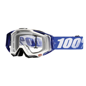 100% Racecraft Goggle  Cobalt Blue Frame/Clear Lens