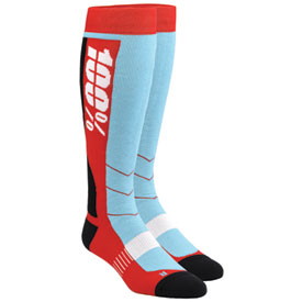 100% Hi-Side Moto Socks Size 6-10 Red