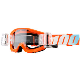 100% Youth Strata SVS Roll-Off Goggle  Orange Frame/Clear Lens