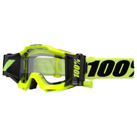 100% Accuri Forecast Film System Goggle  Fluo Yellow Frame/Clear Lens