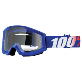 100% Strata Goggle  Nation Frame/Clear Lens