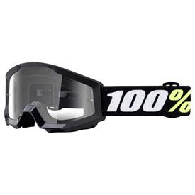 Black w//Clear Lens 100/% MX Motocross Kids PeeWee STRATA Mini Goggles Youth