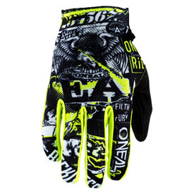 O'Neal Racing Matrix Attack Gloves Large Black/Neon Yellow