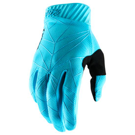 100% Ridefit Gloves Large Ice Blue/Black