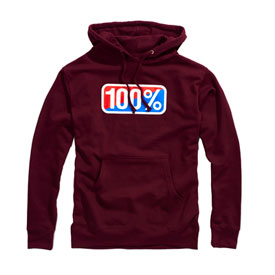100% Classic Hooded Sweatshirt 2019 X-Large Maroon