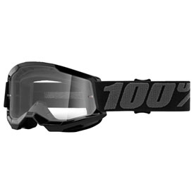 100% Youth Strata 2 Goggle  Black Frame/Clear Lens