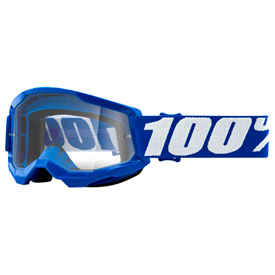 100% Youth Strata 2 Goggle  Blue Frame/Clear Lens