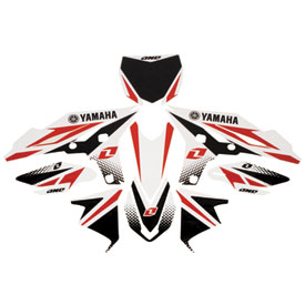 One Industries White Yamaha Graphic Kit 2012