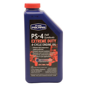 Polaris ps 4 extreme duty engine oil atv rocky for What takes motor oil out of clothes