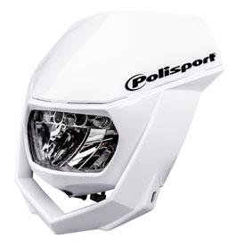 Polisport Halo H4 Headlight White Black Motorcycle Enduro Head Light Universal