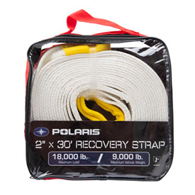 "Polaris Recovery Strap with Carry Bag 2"" x 30'"