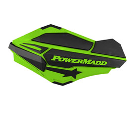 PowerMadd Sentinel Handguards with Tri-Mount Kit Green/Black