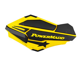 PowerMadd Sentinel Handguards with Tri-Mount Kit Yellow/Black