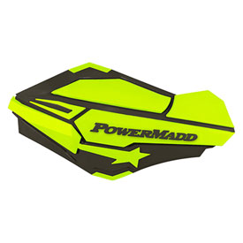 PowerMadd Sentinel Handguards with Tri-Mount Kit Charcoal/Hi-Viz