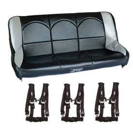 "PRP Rear Bench Seat with 2"" Seat Belt Harnesses"