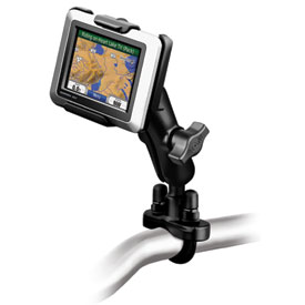 Ram Mounts Rail Mount with U-Bolt Base for Garmin Zumo 220