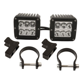 Rigid Industries Dually D2 LED Wide Beam Lights With Horizontal Light Mounts