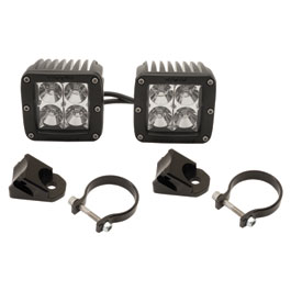 Rigid Industries Dually 2x2 LED Lights With A-Pillar Light Mounts