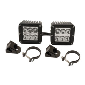 Rigid Industries Dually D2 LED Wide Beam Lights With A-Pillar Light Mounts