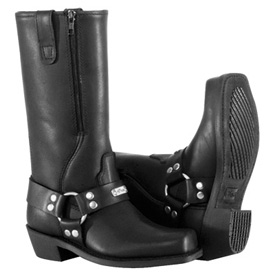 River Road Ladies Square Toe Zipper Harness Motorcycle Boots