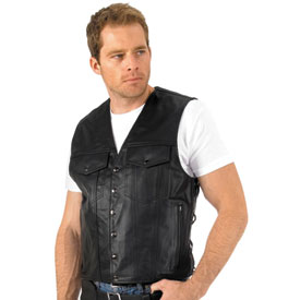 River Road Frontier Leather Motorcycle Vest