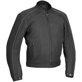 River Road Anvil Perforated Leather Motorcycle Jacket