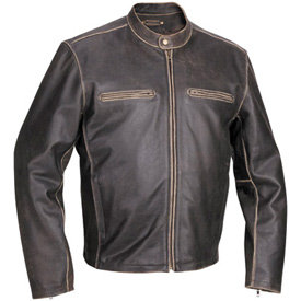 River Road Drifter Leather Motorcycle Jacket