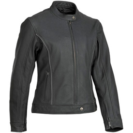 River Road Black Pearl Perforated Leather Ladies Motorcycle Jacket