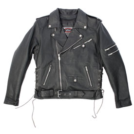 River Road Ironclad Perforated Leather Motorcycle Jacket