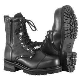 River Road Double Zipper Field Motorcycle Boots