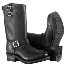 River Road Twin Buckle Engineer Motorcycle Boots