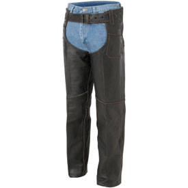 River Road Vintage Leather Motorcycle Chaps