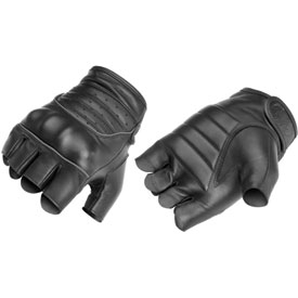 River Road Twin Iron Shorty Leather Motorcycle Gloves