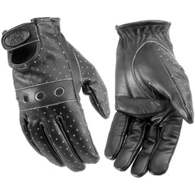 River Road Vintage Leather Motorcycle Gloves