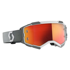 Scott Fury Goggle  White-Grey Frame/Orange Chrome Lens