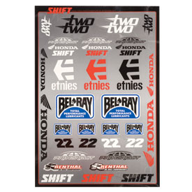 Shift Two Two Motorsports Sticker Sheet