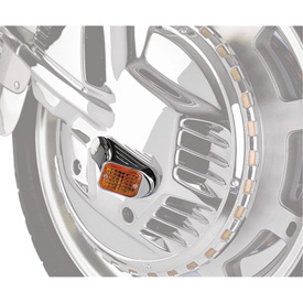 Show Chrome Accessories Amber Angle Mini Marker Light
