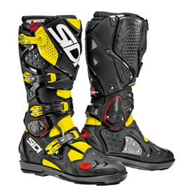 Sidi Crossfire 2 SRS Boots Size 11.5 Black/Fluorescent Yellow