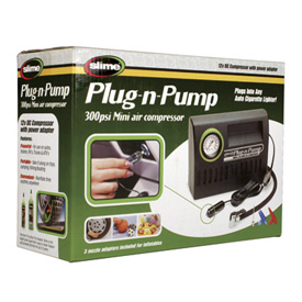 Slime Plug N Pump Compressor with Pressure Gauge